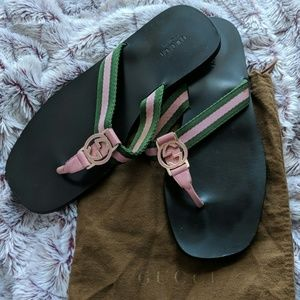 Authentic Gucci Slippers & dustbag.